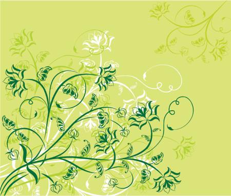 Floral background, elements for design, vector illustration Illustration