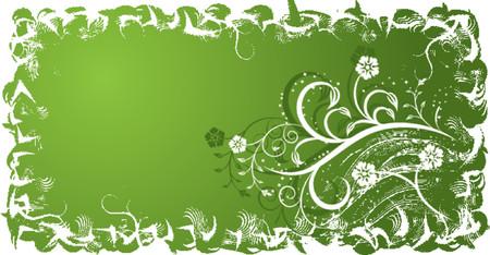 Grunge floral background, vector illustration Stock Vector - 654367