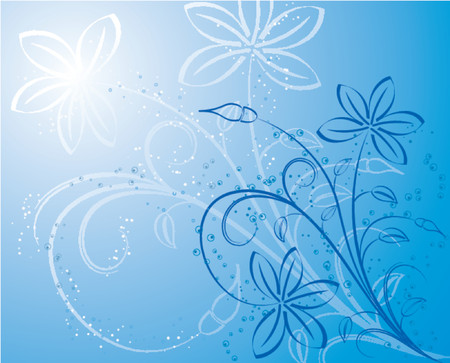 Floral background, vector illustration Stock Vector - 654363
