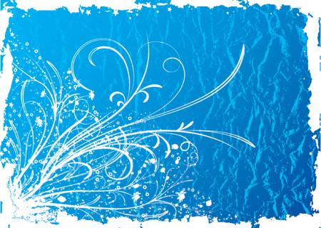 Grunge floral background, vector illustration Stock Vector - 667211