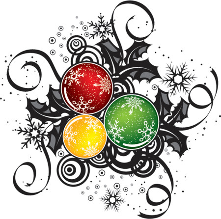 Abstract christmas design, vector illustration Ilustração