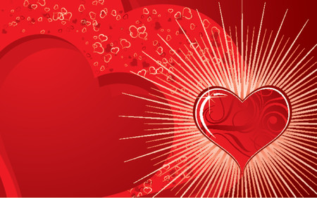 Valentines abstract background with hearts, vector illustration