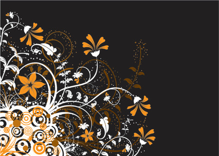 Floral abstract chaos with retro circles, vector illustration Stock Vector - 760166