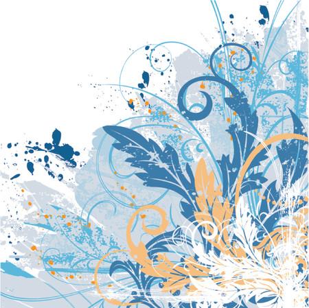 Grunge paint floral chaos, element for design, vector illustration Illustration