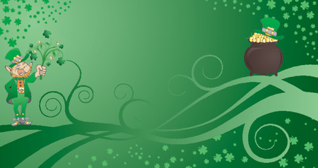 St. Patrick's Day background with clover, hat and flower Stock Vector - 826082
