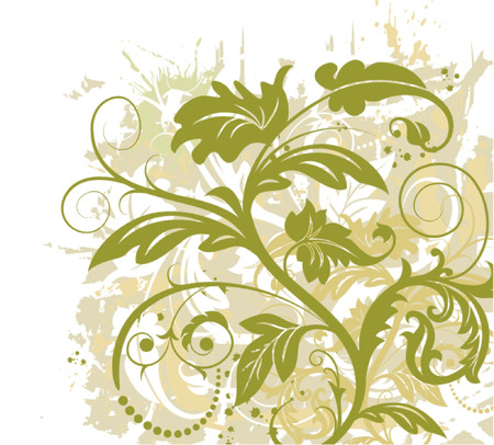 Grunge paint floral chaos, element for design, vector illustration Stock Vector - 826076