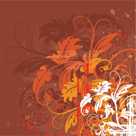 Grunge paint floral chaos, element for design, vector illustration Stock Vector - 826075