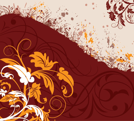 Grunge paint floral chaos, element for design, vector illustration Stock Vector - 826069
