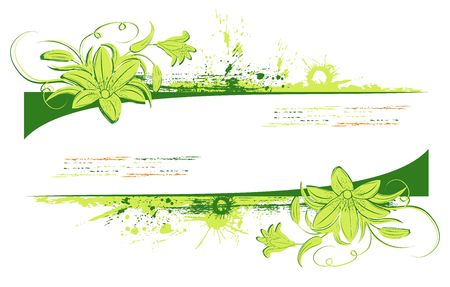 Grunge paint floral frame, element for design, vector illustration Stock Illustration - 873510