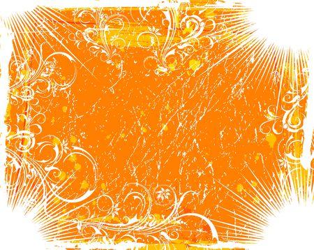 Abstract grunge floral frame, element for design, vector illustration Stock Illustration - 887665