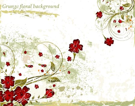 Grunge paint floral background, element for design, vector illustration Stock Illustration - 935074