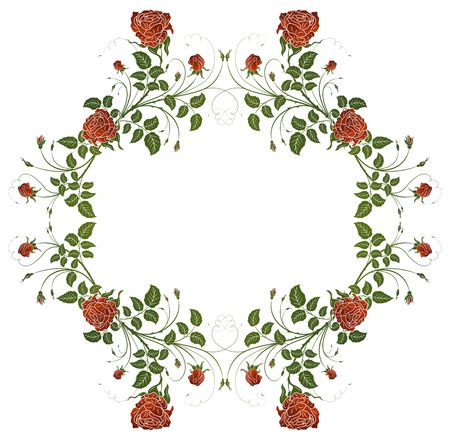 Abstract floral frame, element for design, vector illustration Stock Illustration - 940461