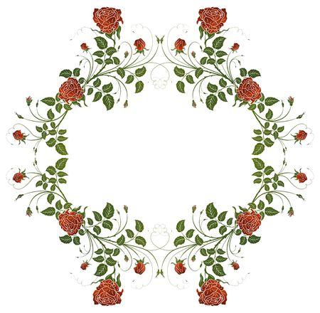 Abstract floral frame, element for design, vector illustration Stock Illustration - 940461