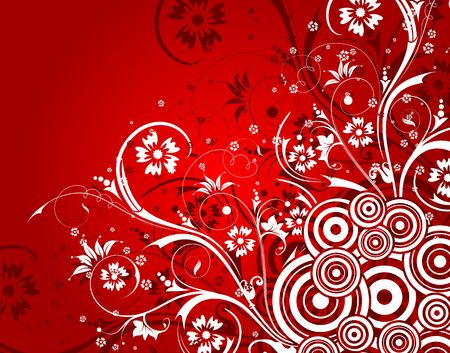 Abstract floral background with circles, element for design, vector illustration Stock Illustration - 948067