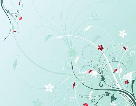 Abstract flower background, element for design, vector illustration Stock Illustration - 960154