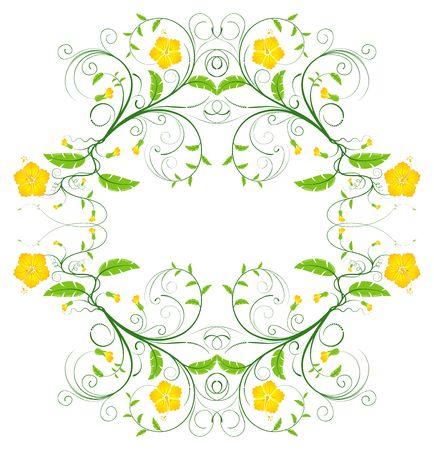 Abstract flower frame, element for design, vector illustration Stock Illustration - 966570