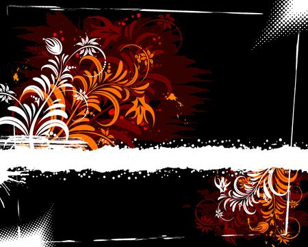 Grunge paint flower background, element for design, vector illustration Stock Illustration - 974278