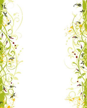 Grunge paint flower frame, element for design, vector illustration Stock Illustration - 1080587