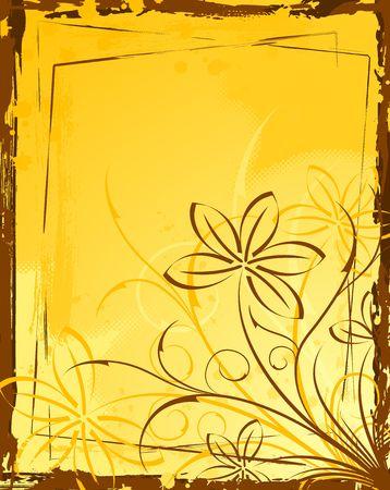 Grunge paint flower background, element for design, vector illustration Stock Illustration - 1149171