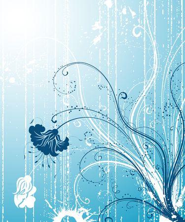 Grunge paint flower background, element for design, vector illustration Stock Illustration - 1261225