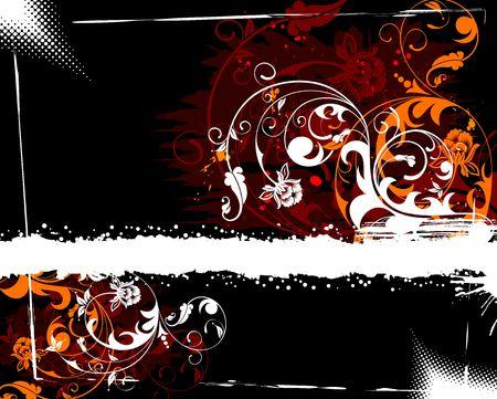 Grunge paint flower background, element for design, vector illustration Stock Illustration - 1261232