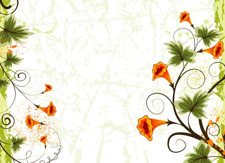 Grunge paint flower background, element for design, vector illustration Stock Illustration - 1319567