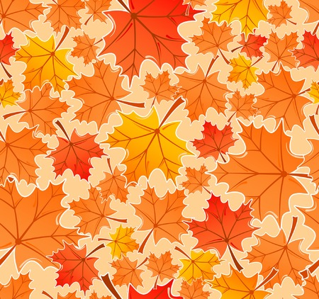 leafage: Autumn leaves seamless pattern, element for design, vector illustration