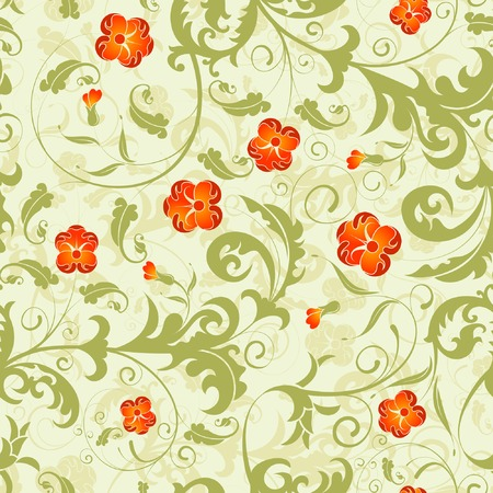 leafage: Floral seamless pattern with background seamless, element for design, vector illustration