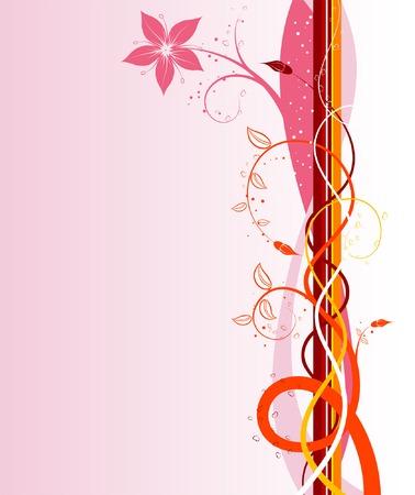 Fiore di fondo con onde, elemento per la progettazione, illustrazione vettoriale