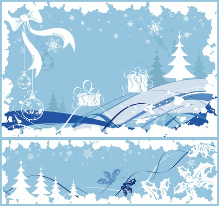 Collect christmas frame with baubles & gifts, element for design, vector illustration Vector
