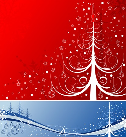 Abstract christmas background with tree, element for design, vector illustration Stock Vector - 2142800