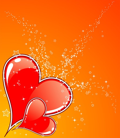 Valentines Day background with Hearts, element for design, vector illustration Stock Vector - 2274379