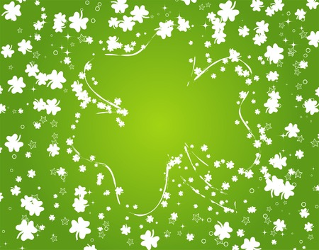 St. Patricks background with clover Vector