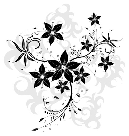 element for design: Abstract flower background with circle, element for design, vector illustration