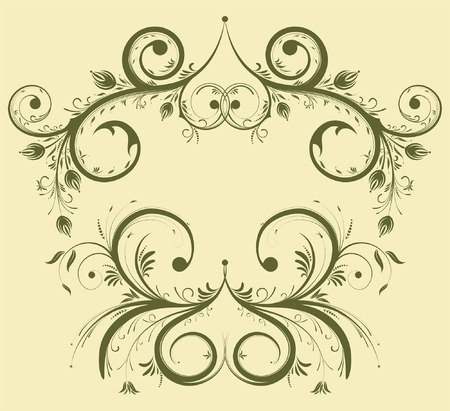 collect: Collect flower border, element for design, vector illustration Illustration