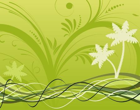 Summer background with wave pattern, element for design, vector illustration Stock Vector - 2788976