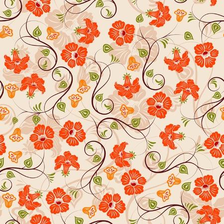 Flower seamless pattern, element for design, vector illustration Vector
