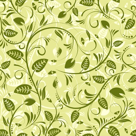 Flower seamless pattern with leaf, element for design, vector illustration Stock Vector - 3125436