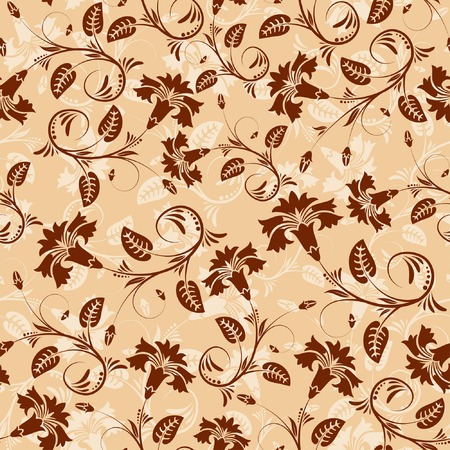 Flower seamless pattern with leaf, element for design, vector illustration Stock Vector - 3160062