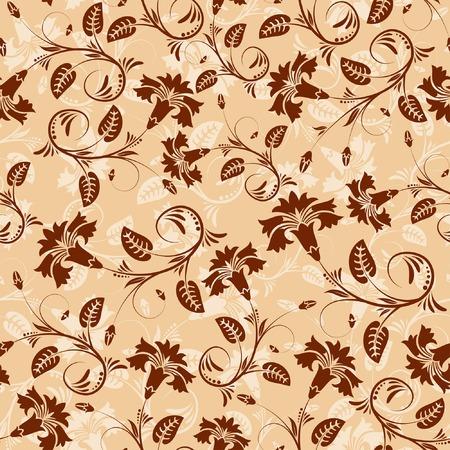 Flower seamless pattern with leaf, element for design, vector illustration Stock Vector - 3160062