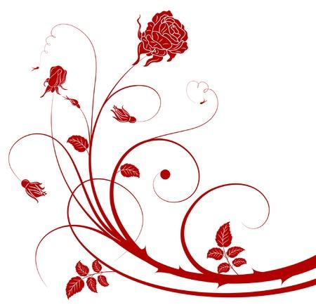 element for design: Flower cutout background with rose, element for design, vector illustration