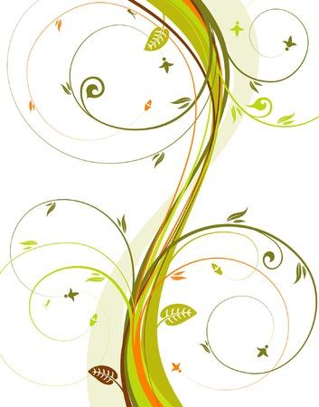 Flower background with wave pattern, element for design, vector illustration Vector