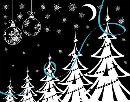 Christmas background with snowflakes, element for design, vector illustration Stock Vector - 3387171