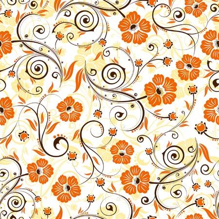 Flower seamless pattern with bud, element for design, vector illustration Ilustração