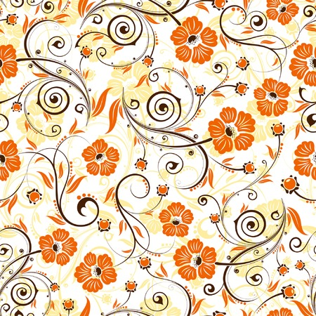 Flower seamless pattern with bud, element for design, vector illustration Illustration
