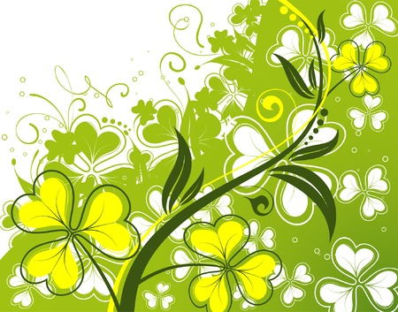 Flower background with wave pattern, element for design, vector illustration Vector