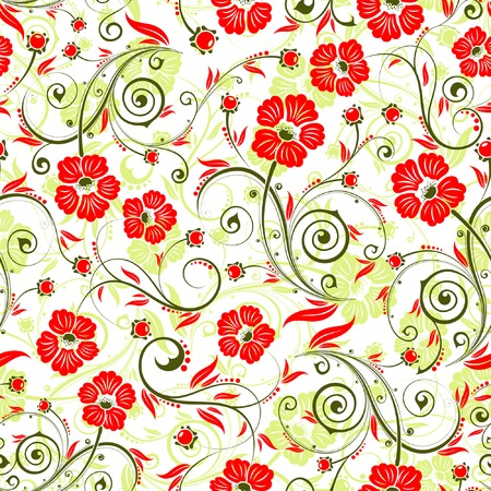 Flower seamless pattern with bud, element for design, vector illustration Vector