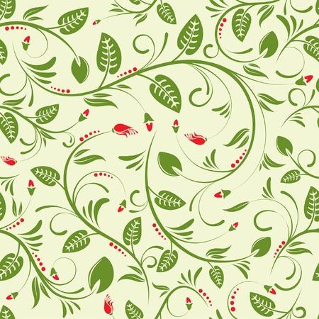 iteration: Flower seamless background, element for design, vector illustration