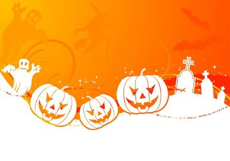Halloween  with pumpkin, element for design, vector illustration Vector