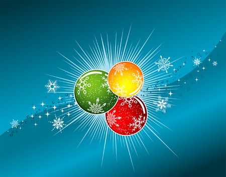 Christmas background with sphere and wave pattern, element for design, vector illustration Stock Vector - 3783049